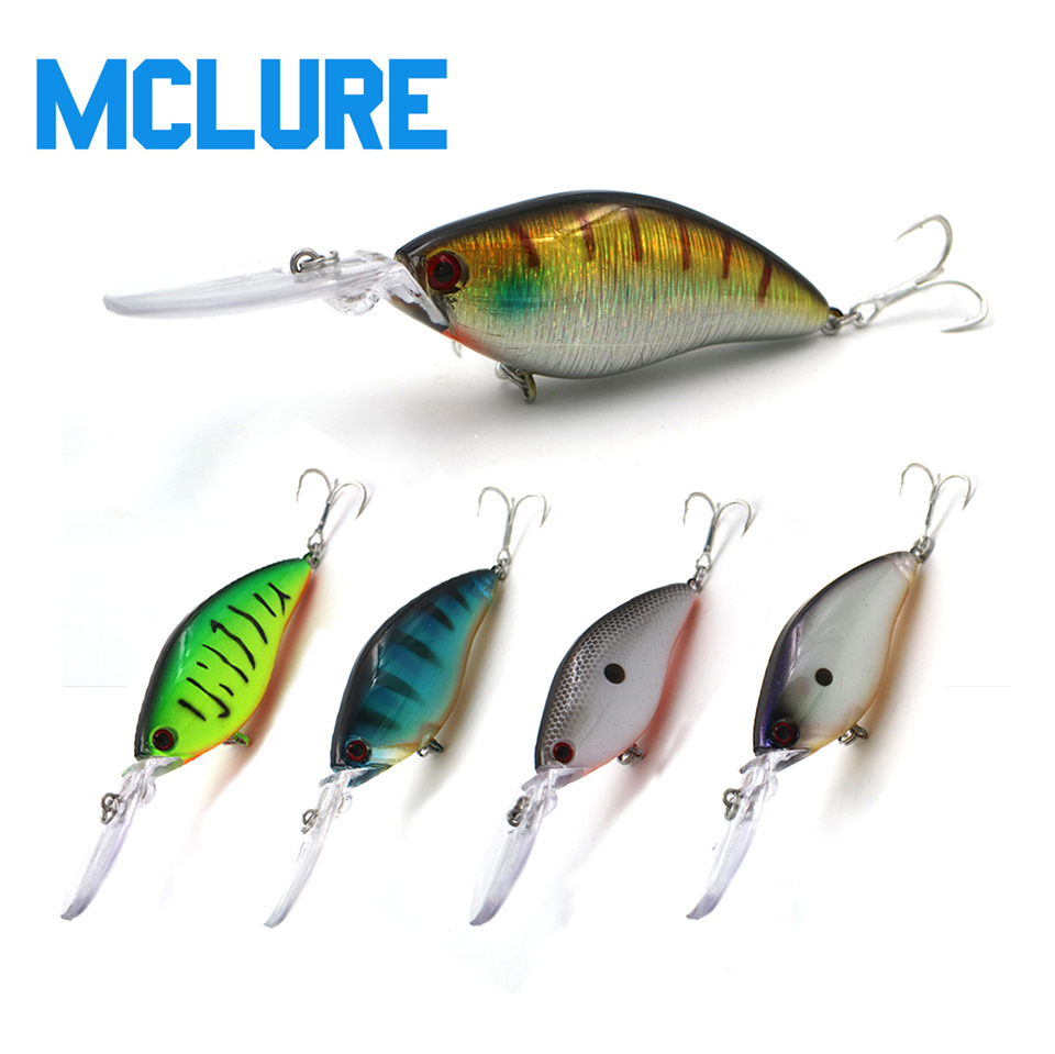 MCLURE Floating Deep Diving Crankbait Fishing Lures 18g110mm dive 3m Wobblers With 6# Blood groove hook peche isca artificial
