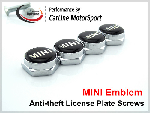 Chrome METAL License Plate Screw Caps With FREE Screws