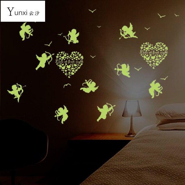 YunXi Cupido Kleine Lichtgevende Stickers Woonkamer Slaapkamer ...