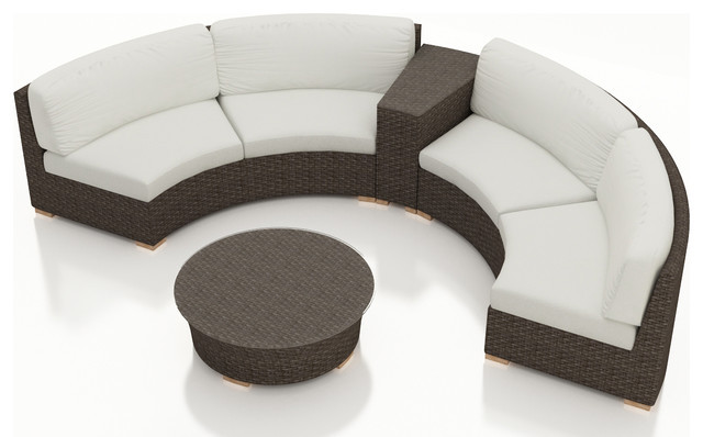 2017 All Weather Outdoor 4 Piece Furniture Round Sofa Sectional Set