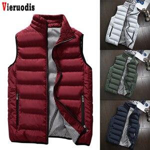 Spring Autumn Men New Stylish 2019 Vest Mens Plus Size 5XLWarm Sleeveless Jacket Men Winter Waistcoat Men's Vest Casual Coats