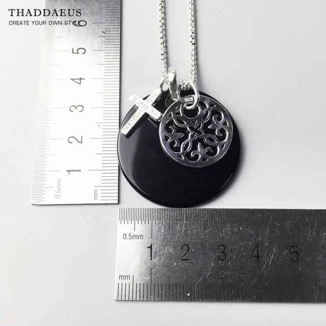 Collier croix ornement, 2017 tout neuf Ts 925 en argent Sterling lien chaîne Bijoux de mode Thomas Style Bijoux cadeau pour les femmes