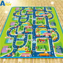 City Map Soft Todder Play Mat Baby PlayMat Toys Crawling Pads For Children Development Carpets Kid Puzzle Play Game Rug 70 30cm baby play crawling mat music carpets kid piano play game mats animal sounds educational soft kick toys gift nsv775