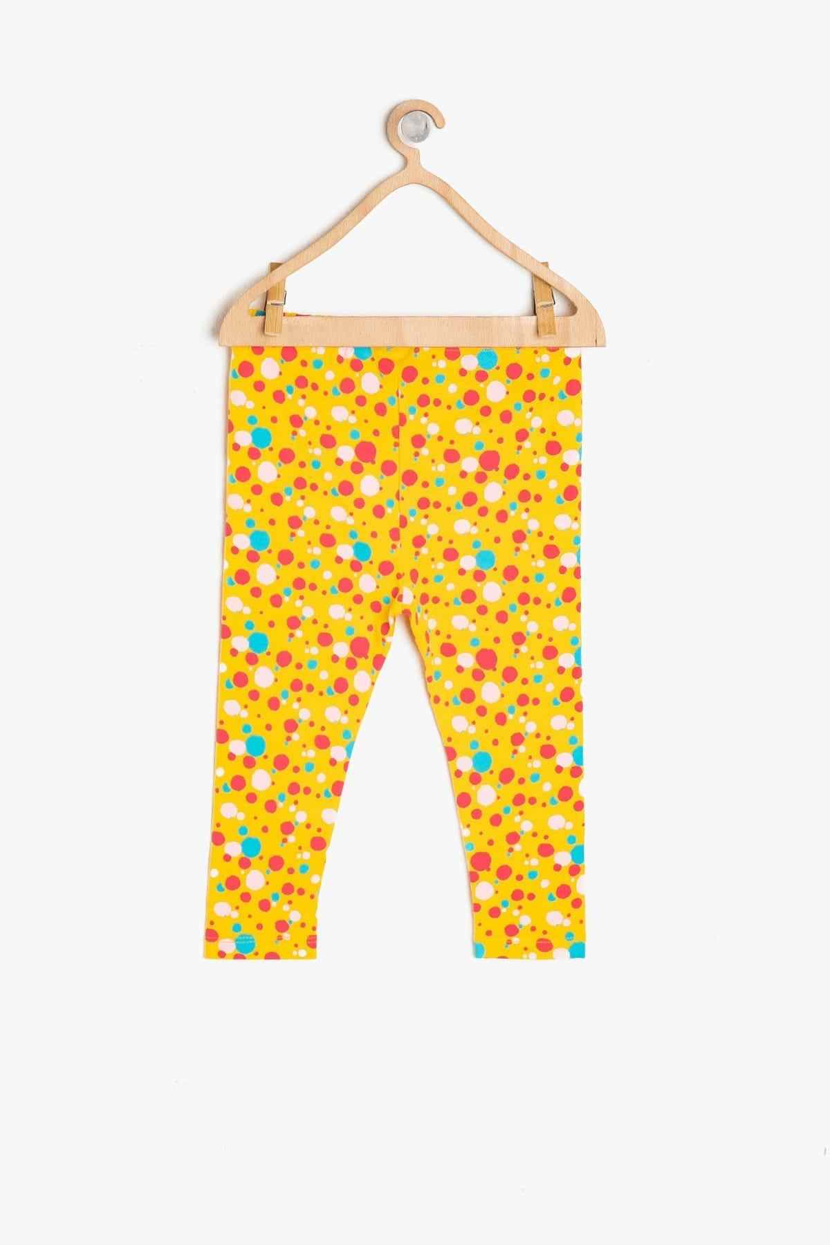 Koton Kids Yellow Baby Girl Patterned Leggings Tights Aliexpress