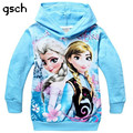 GSCH Baby Girl Clothes elsa Hoodies Jacket Sweater Long Sleeve princess Girls Sweatshirts Kids Clothes elsa costume for Children