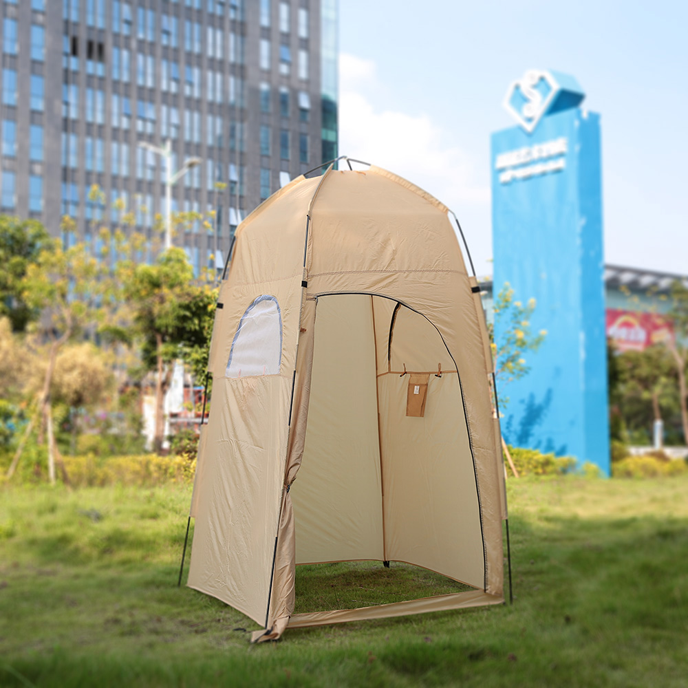 TOMSHOO Portable Camping Tent  With Large Zippered Door Used As Forest And Mountain 15