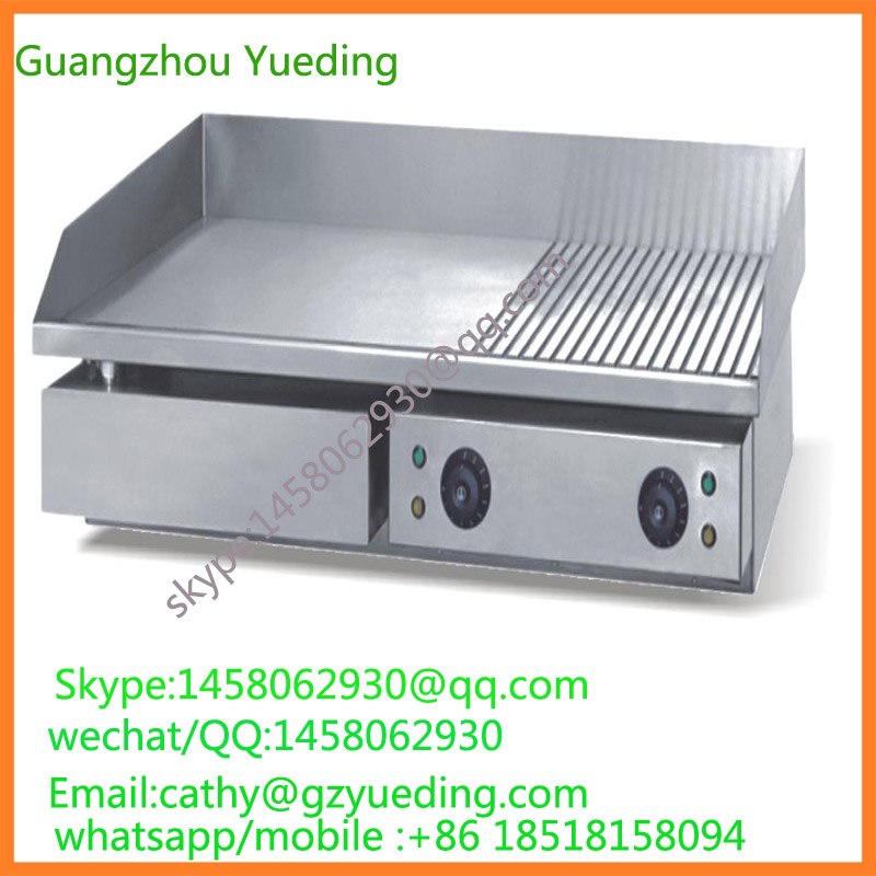 все цены на Countertop electric Griddle Commercial catering equipment stainless steel electric half griddle and half grill онлайн