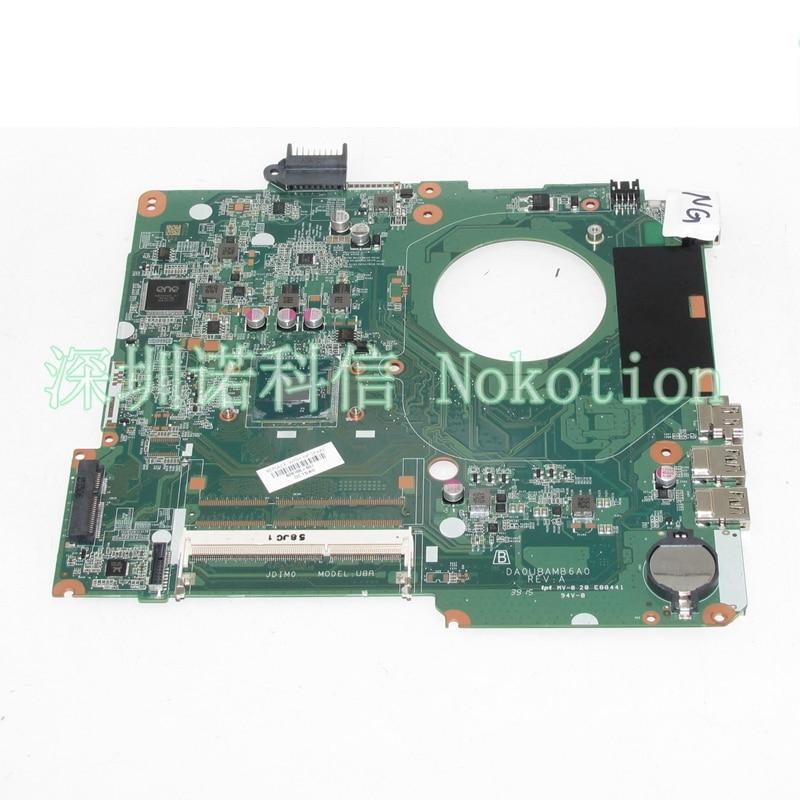 828166-001 Laptop motherboard For hp pavilion 15-F SR1YW N3540 DA0U8AMB6A0 Mainboard Works