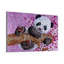 Утонченная Алмазная картина 5D с изображением панды DIY, полная круглая Алмазная вышивка крестиком, алмазная кристальная настенная живопись, подарок