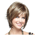 Hot Sale Charming Short hair Sets Cut Wig Women's Straight Hair Short Blonde Wig Medium Size Natural Wigs 29CM WIG021