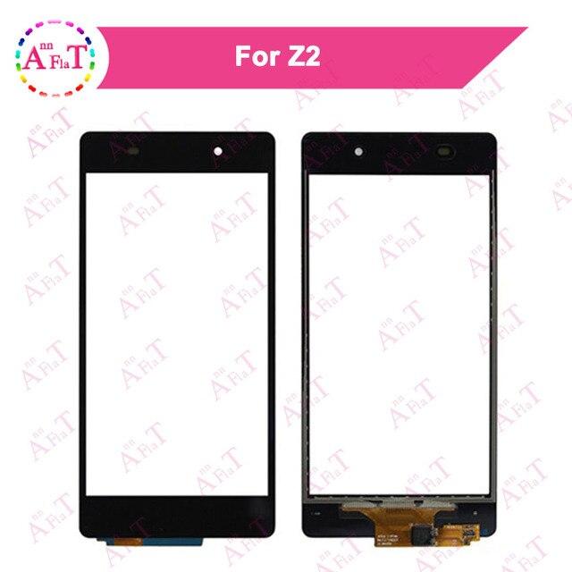 "5Pcs/lot 5.2"" For Sony Xperia Z2 L50w D6502 D6503 D6543 Touch Screen Digitizer Sensor Outer Glass Lens Panel 3m glue Free"