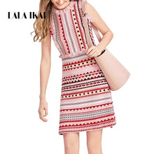 41ff9c0871 LALA IKAI Boho Colorful Sweater Dresses Women Cute Sleeveless Bodycon Dress  Sexy Fall A-Line Party Knitted Vestidos SWC2513 47