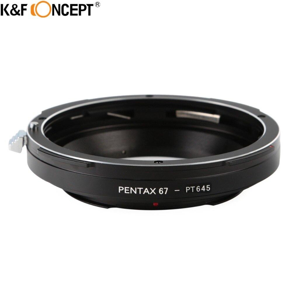 K & F CONCEPT Pour Pentax67-Pentax645 Camera Lens Adapter Ring Pour Pentax67 Lens Pour pour Pentax 645D, 645N, 645 Corps de la Caméra