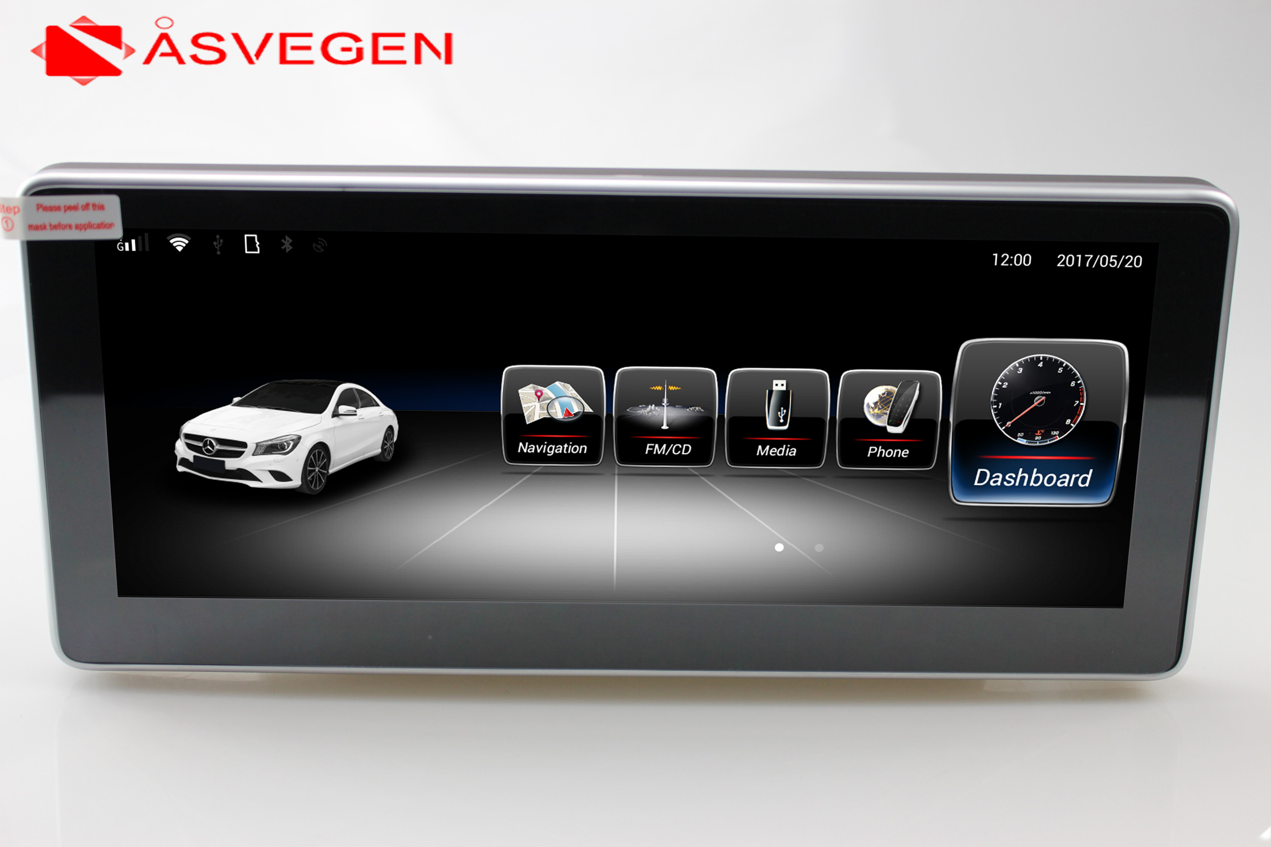 New arrival! 2GB+32GB android 7.1 car multimedia player for Benz C Class W204 2008 2009 2010 with gps navigation 4G wifi BT