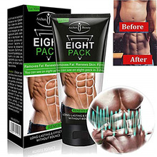 Eight Pack For Men Stronger Muscle Cream Waist Torso Smooth Lines Press Fitness Belly Burning Muscle Fat Remove Weight Loss(China)