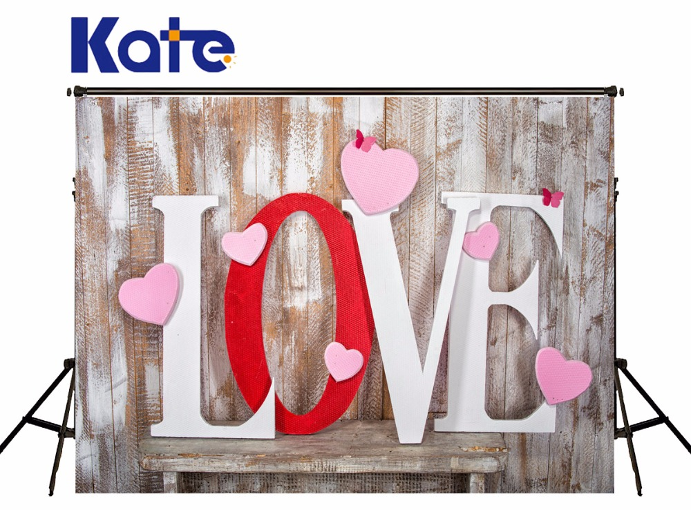 300x300cm Valentine 's Day Backgrounds For Photo Studio Love Letter Heart-shaped Wooden Photo Background Photography Backdrop