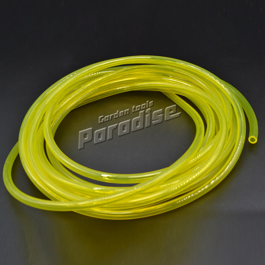 все цены на (5 meters)Gas Engine Machine Oil Pipe Yellow Color Fuel Hose with Diameter 2.5mm*5mm 5M Length онлайн