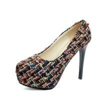 LISM high heels XL shoes 2018 Spring new fashion waterproof platform increased floral women