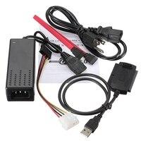 Кабель для передачи данных конвертер Кабель USB 2.0 IDE SATA 2.5 3.5 HDD Адаптеры питания кабель США Тип для жестких дисков CD dvd combo устройства