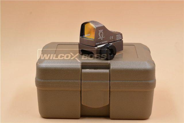 Óptica reflectante táctica Doctor Docter 3 III, Láser de brillo automático, ajuste de la vista de punto rojo, ajuste de cualquier soporte de riel de 20mm (Tan)