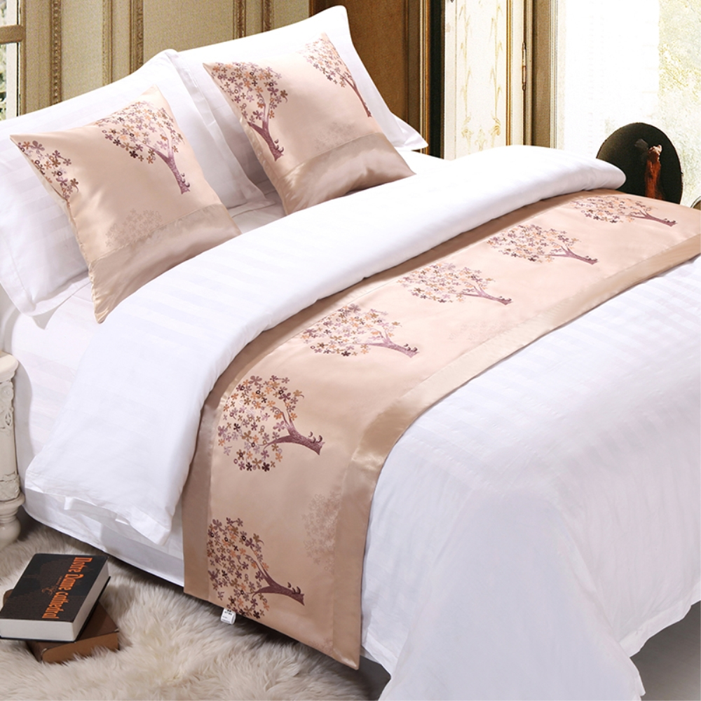 RAYUAN Pachira Macrocarpa Bedspread Double Layer Bed Runner Throw Home Hotel Bedding Single Queen King Bed Tail Towel