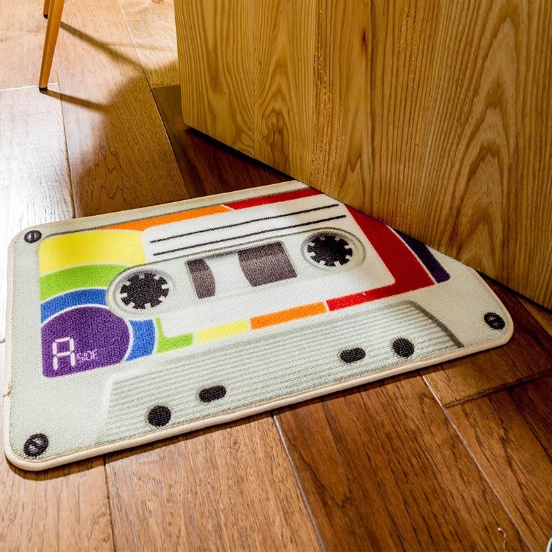 LIU Europe edition tape front door mat retro home entrance hallway carpet doormat fashion rug cushion memory livingroom tapetes