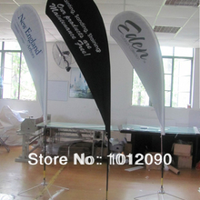 High Quality 250X110cm Custom Teardrop FLag with Printing Two Sides. (Can With Printing Difference Image On Both Sides)
