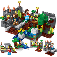 Qunlong 267pcs My World 4 In 1 Town Group Minecraft Building Block Figures Bricks Educational Toys