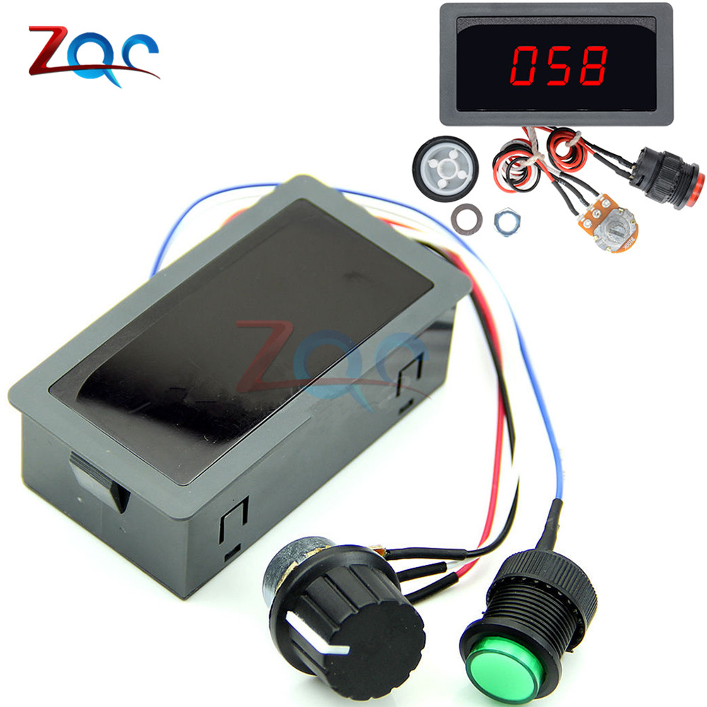 DC 6V-30V 12V 24V MAX 8A 16kHz Adjustable PWM Motor Speed Controller Digtal Display DC Motor Control CV Governor Switch