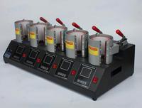 디지털 5 스테이션 머그잔 프레스 기계 다채로운 인쇄 컵 메이커 핫 컵 베이킹 머신 5 스테이션 컵 베이커