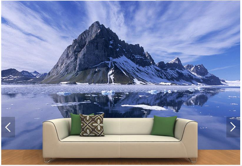Customized 3d photo wallpaper 3d wall murals wallpaper 3d hd snowy     Customized 3d photo wallpaper 3d wall murals wallpaper 3d hd snowy frozen  lake background wall painting 3d living room wallpaper in Wallpapers from  Home