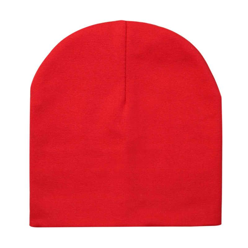 아기 모자 코 튼 솔리드 컬러 아기 모자 소년과 소녀에 대 한 어린이 비 니 모자 아이 소년 겨울 모자