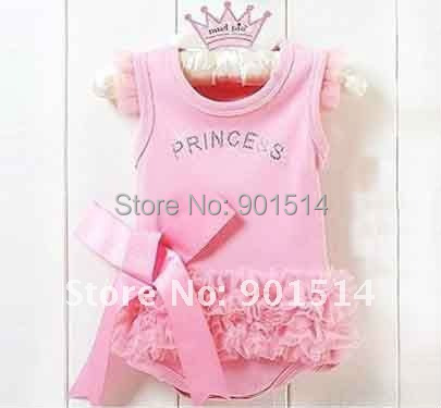 Very cheap price 6pcs 2016 New arrival Fashion Lace Girl Baby Rompers Kids Rompers wear Free shipping