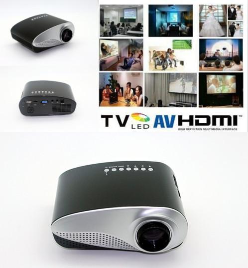 200 lumens Zoom elétrica Pico Micro vídeo portátil pequeno Mini projetor HDMI USB VGA AV TV Tuner tripé