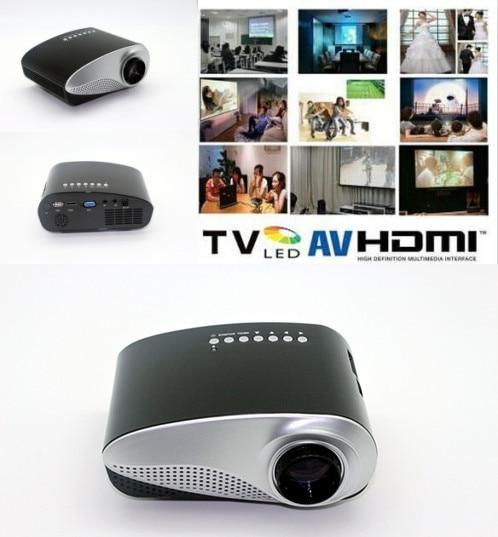 200lumens LED Electric Zoom Portable Video Pico Micro Small Mini Projector HDMI USB AV VGA TV Tuner Tripod