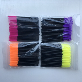 5000pcs 100 Bags Silicone Make up Brush One-Off Disposable Eyelashes Brush Wand Applicator makeup accessories tools DHL UPS TNT