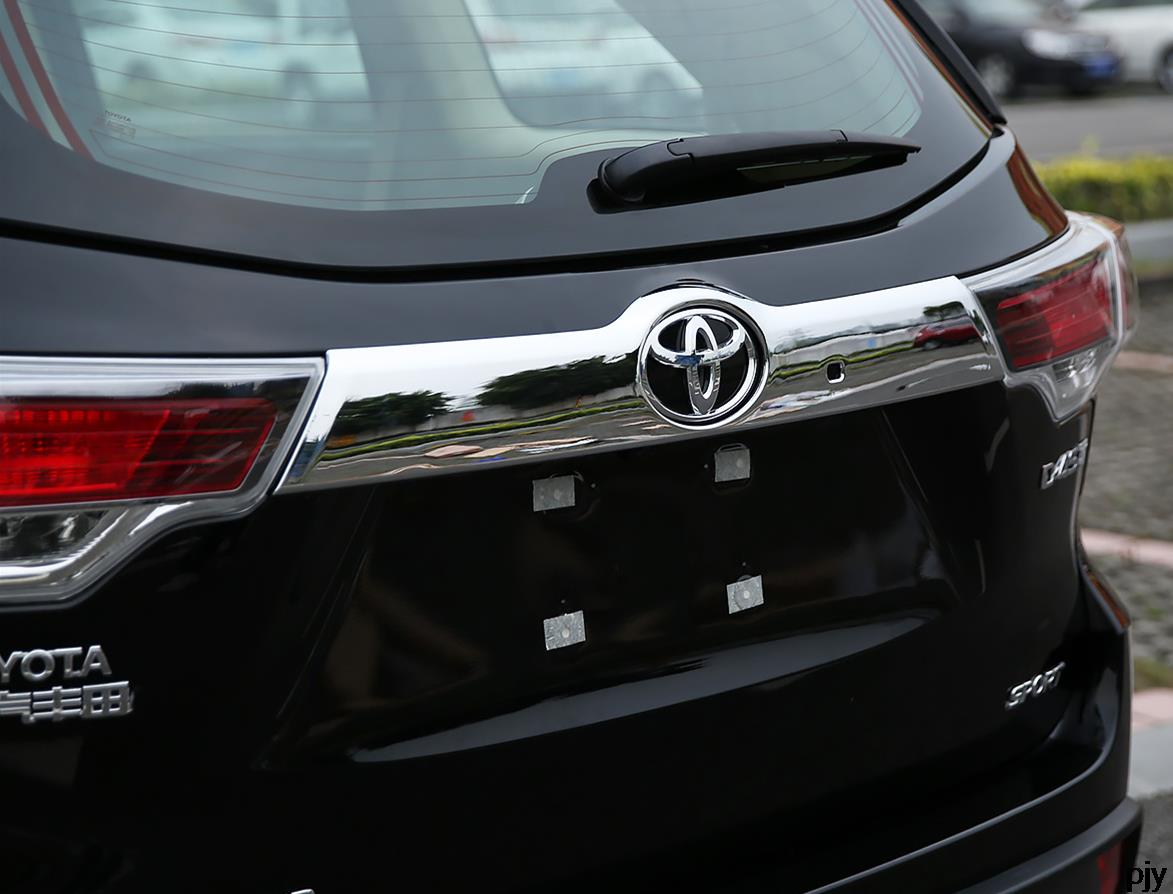 High quality rear door trunk lid abs chrome decoration cover trim 1pcs for 2015 2016 toyota highlander accessories