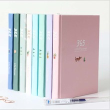 New 2019 Korean Kawaii Cute 365 Planner Daily Weekly Monthly Yearly Planner Agenda Schedule Day Plan Notebook Journal Dairy A5 japanese kawaii notebook a5 refill inner journal planner hobonichi weekly planner notebook agenda 2018 bullet journal defter