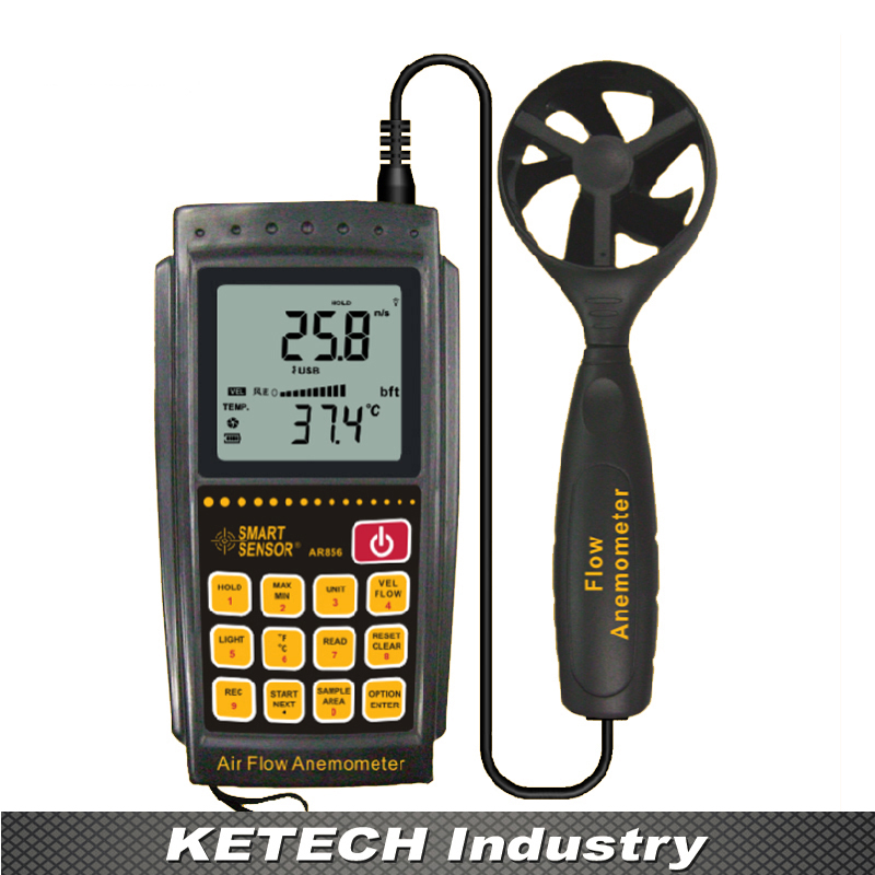цена на AR856 Portable Air Flow Meter Wind Speed Tester Anemometer