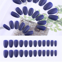 Nail Art Manicure 24pcs Matte Tips For False Nails Fake Nails Forms For Extension Manicure Art for False Nails30