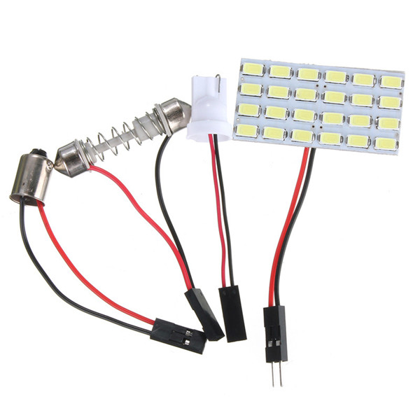 все цены на Best Price T10 24 LED 5730 SMD Light Panel Board Pure White Car Auto Interior Reading Map BA9S Festoon Lamp Bulb DC12V онлайн