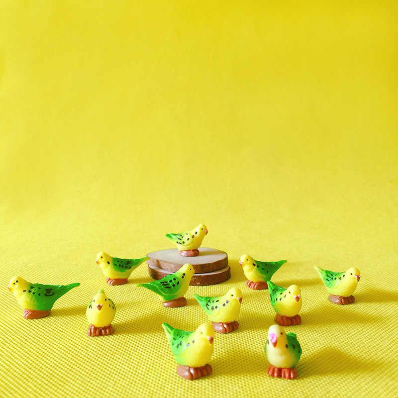 10Pcs/little bird/doll house//miniatures/lovely cute/fairy garden gnome/moss terrarium decor/crafts/bonsai/ DIYsupplies/figurine