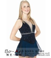 ice skating dress hot sale free shipping figure skating dress black for women skating custom