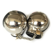 Stainless Steel Ball Shape Metal Handcuffs For Sex Adult Games Bdsm Bondage Slave Fetish Hand Cuffs Sex Toys For Couples