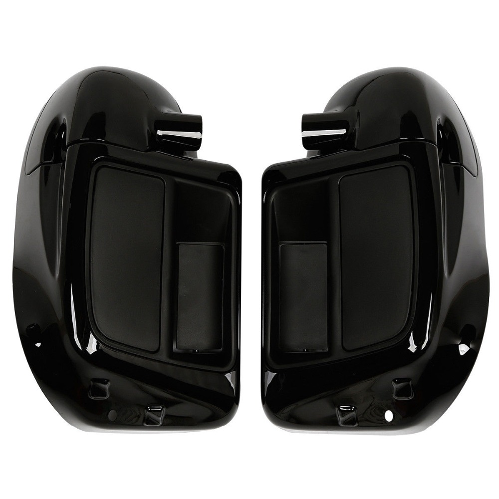 Motorcycle Gloss Black 6 5 quot Speaker Box Lower Vented Fairing Leg For Harley Touring 2014 18 in Covers amp Ornamental Mouldings from Automobiles amp Motorcycles