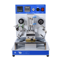 Pneumatic Automatic Hot Foil Stamping Machine Leather LOGO Creasing Machine Embossing stamps For Date Coding Paper Card making