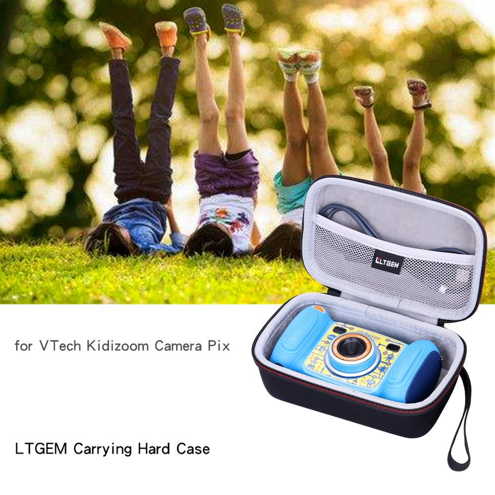 LTGEM EVA Black Carrying Hard Case for VTech Kidizoom Camera Pix