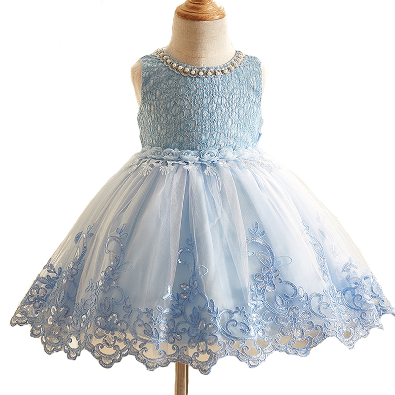 Brand Sequined Flower Girl Dress Kids Pageant Party Wedding Ball Prom Princess Formal Occassion Flower Lace Girls Dress 3-10Y 2017 kids girls wedding flower girl dress princess party pageant formal dress crossed back sleeveless lace tulle dress 2 14y