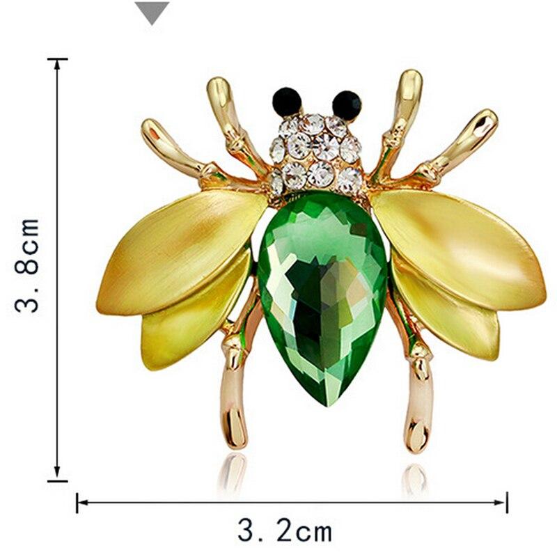 Пчела, жук, краб, муравьи, улитка, броши с птицами, Скорпион, стразы, Винтажные Украшения в виде животных, брошь - Окраска металла: 31