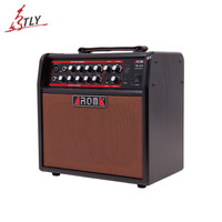 Aroma TM 30A 30w Acoustic Guitar Digital AMP Audio Amplifier Speaker Box Built in Tuner with Gauge Audio Cable Power Adapte